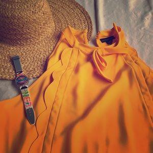 NWT Victoria Beckham/Target blouse marigold